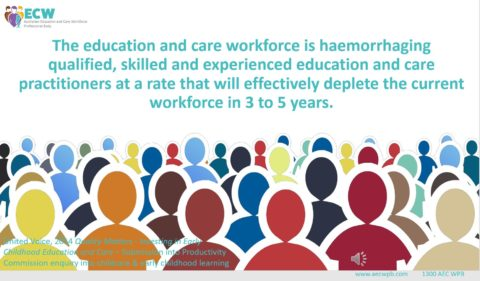 Why does professional recognition continue to elude the education and care workforce?